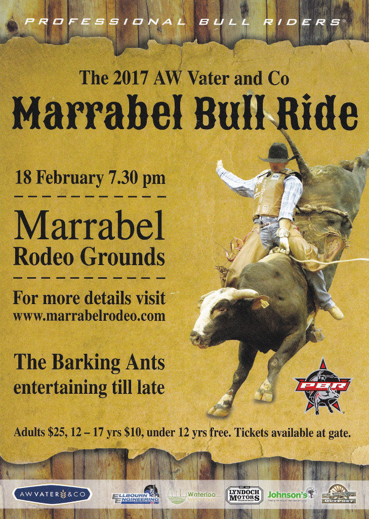 Aw Vater Amp Co Pbr Marrabel Bull Ride 2017 Southern