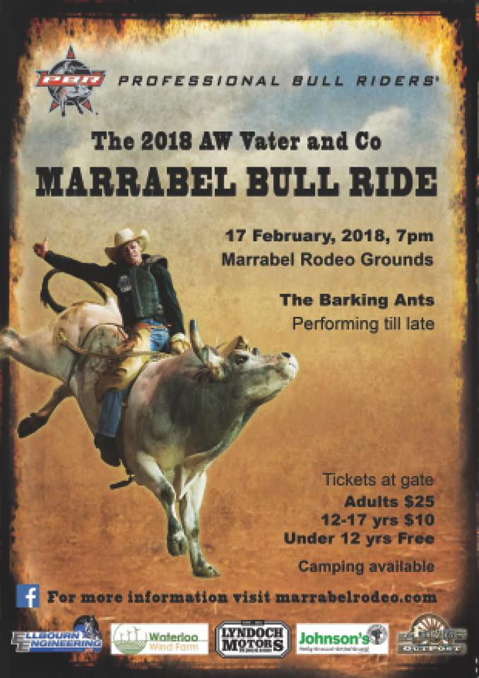 Aw Vater Amp Co Marrabel Bull Ride 2018 Southern Goyder
