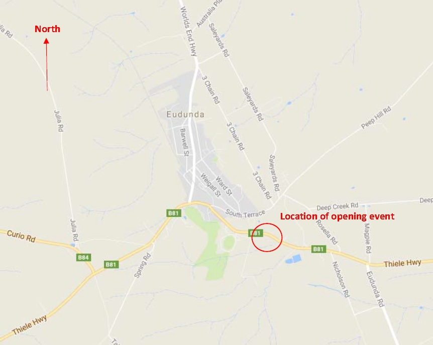 Road Map showing location of Opening Heavy Vehicle Bypass