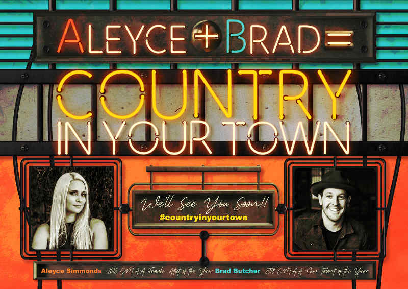The Barn at Wombat Flat - Country In Your Town - Aleyce Simmonds & Brad Butcher 13th Oct 2018